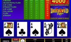 Deuces Wild Video Poker Strategy