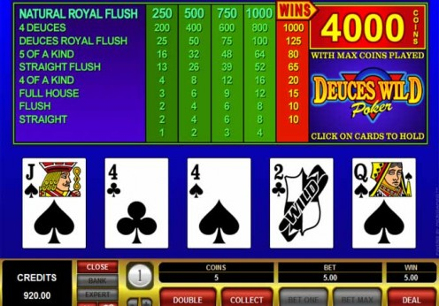 Aces and Eights Video Poker – Play Aces and 8s Online Free